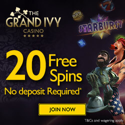 the grand ivy free pokies 20 free spins no deposit
